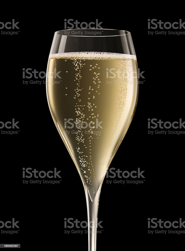 Champagne Glass XXXL stock photo