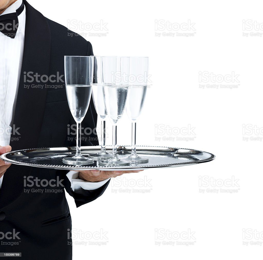 Champagne glasses in portrait royalty-free stock photo