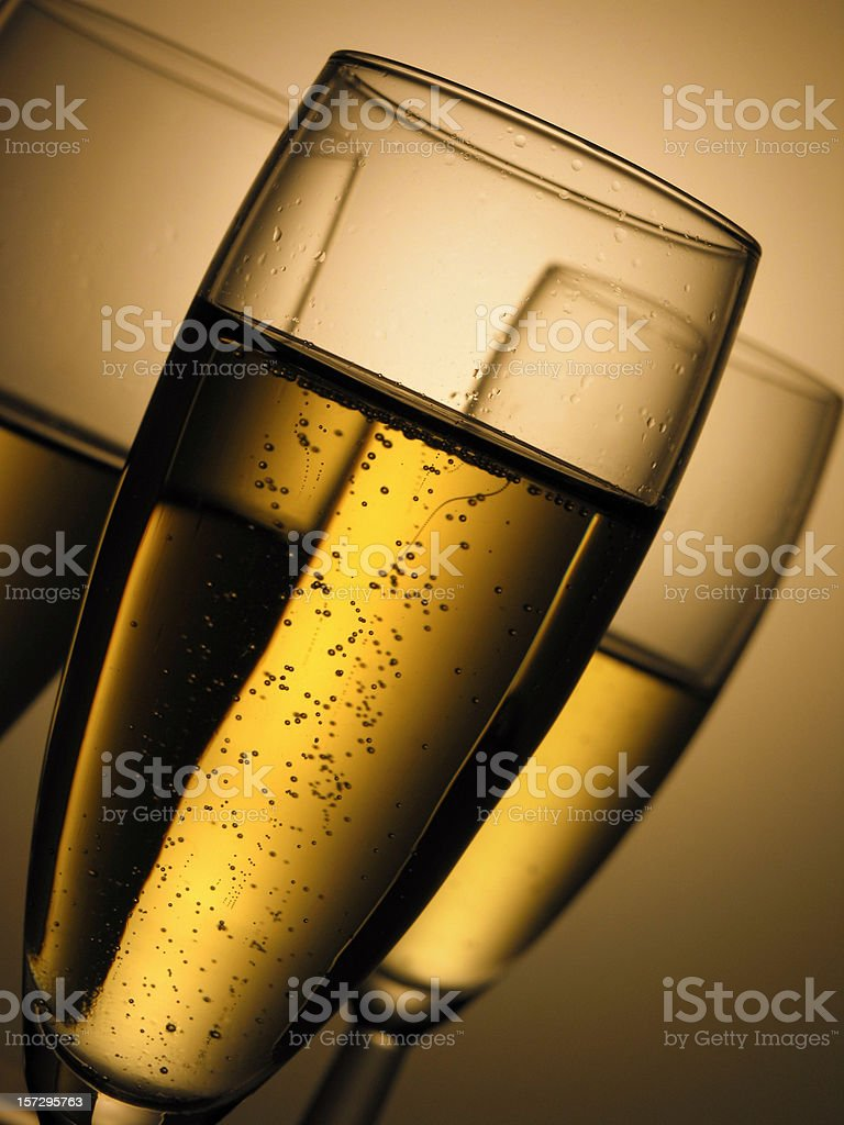 champagne glasses (drinks) royalty-free stock photo