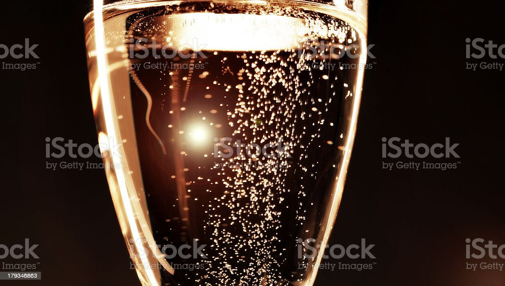 champagne in flute royalty-free stock photo