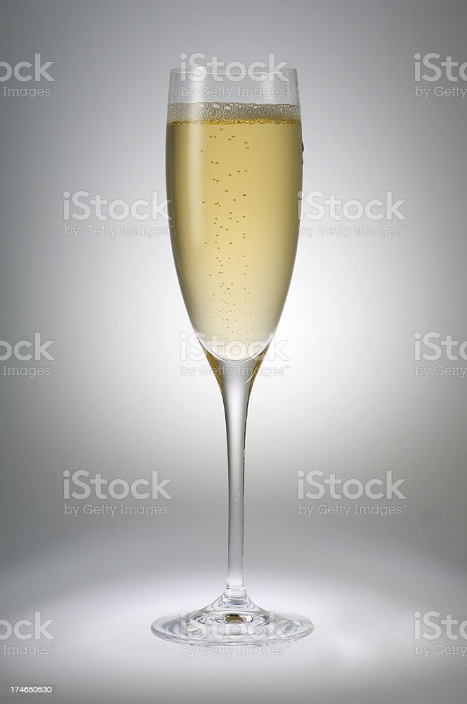 champagne in footed tumbler royalty-free stock photo
