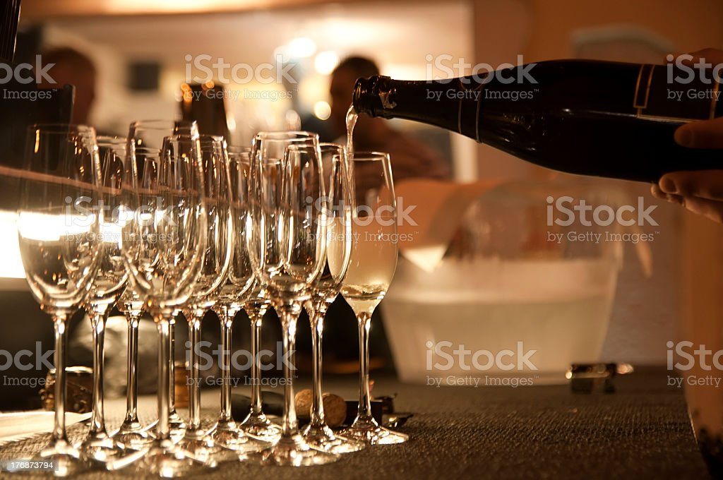 Champagne moment stock photo