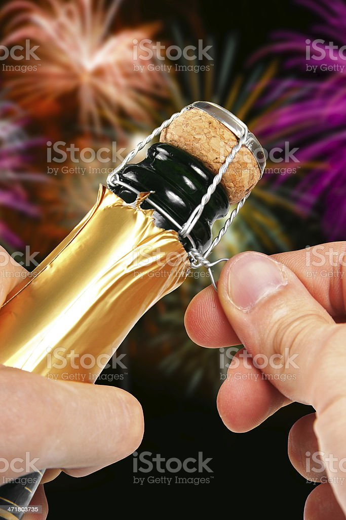 champagne opening royalty-free stock photo