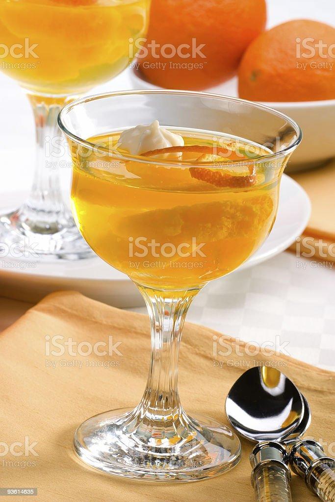 Champagne Orange jelly stock photo
