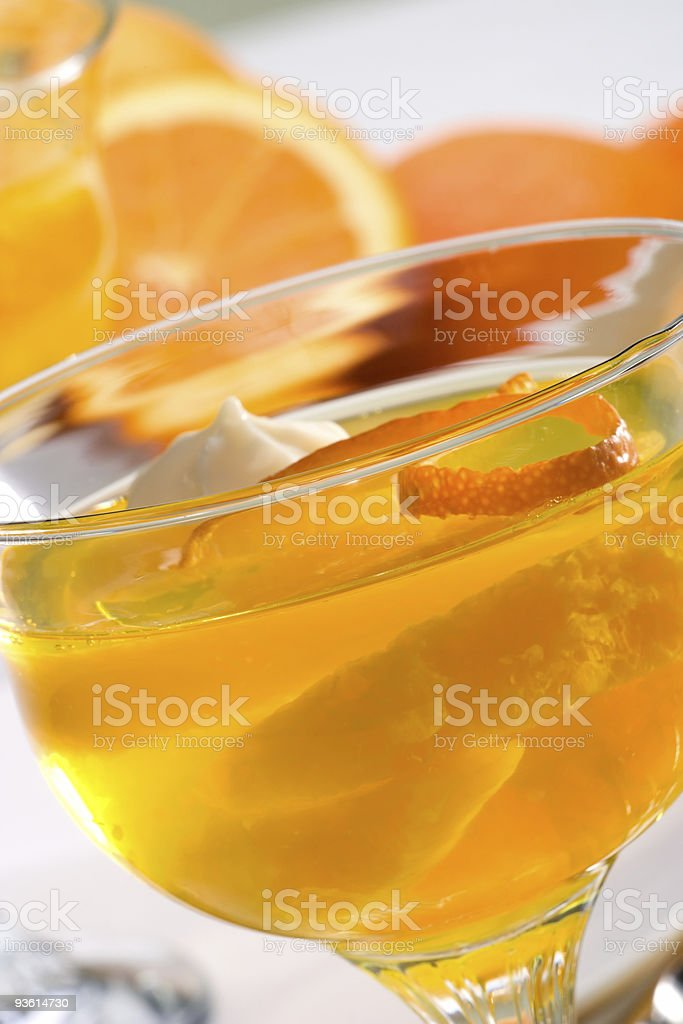 Champagne Orange jelly royalty-free stock photo