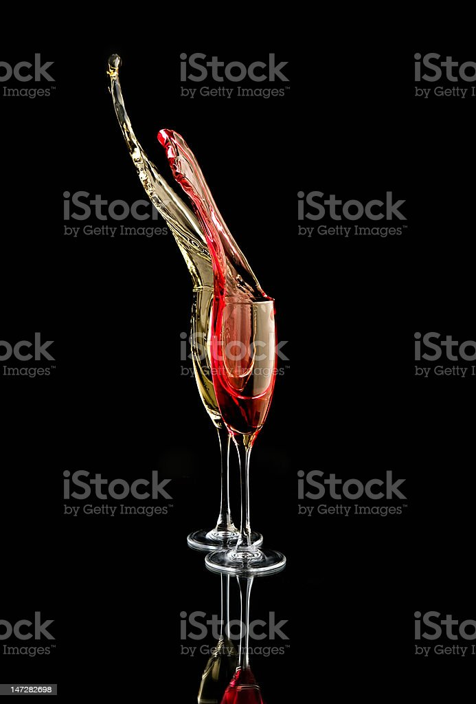champagne original splash stock photo