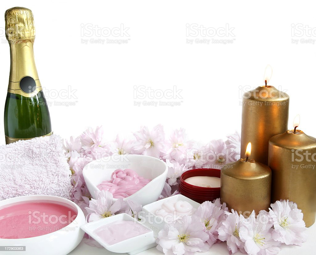 Champagne pampering royalty-free stock photo
