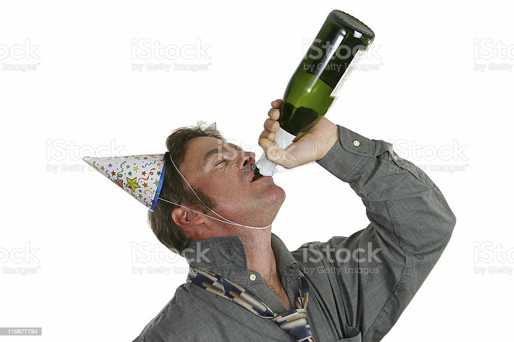 Champagne Party Guy stock photo