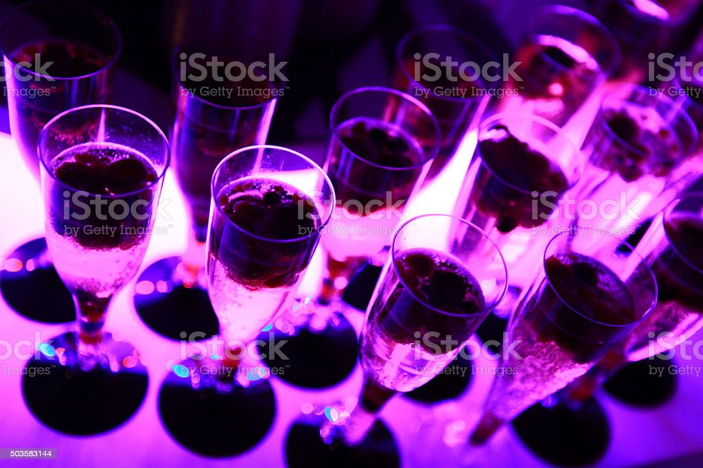 Champagner Party stock photo