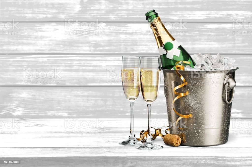 Champagne. stock photo