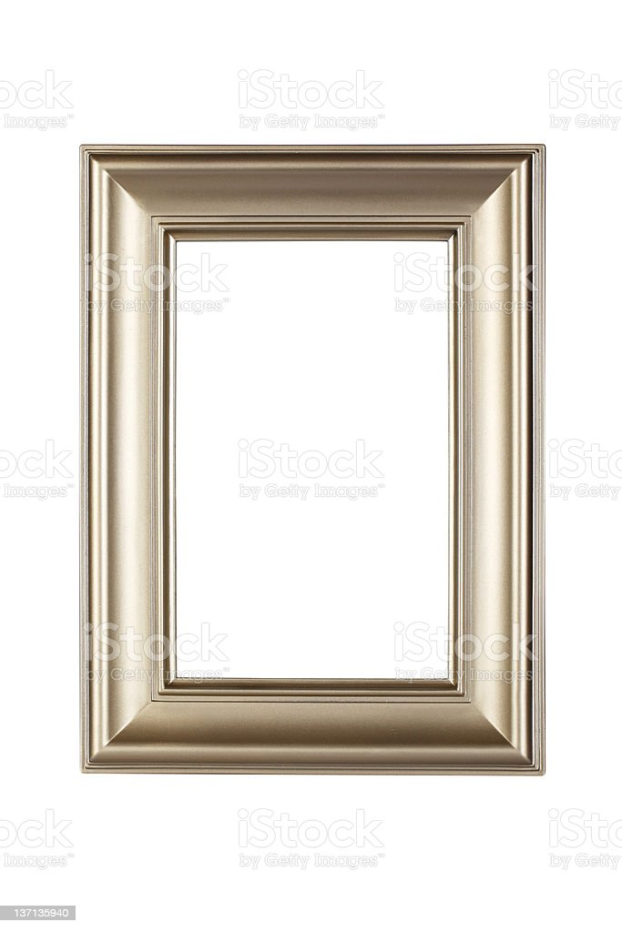 Champagne plated frame isolated on white background royalty-free stock photo