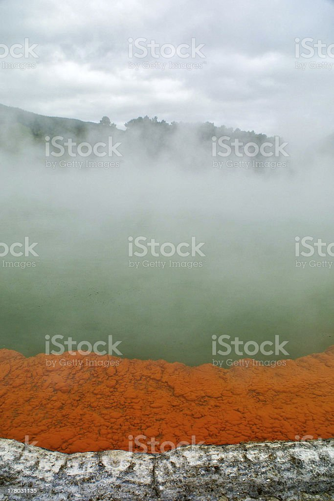 Champagne Pool, Rotorua, New Zealand royalty-free stock photo