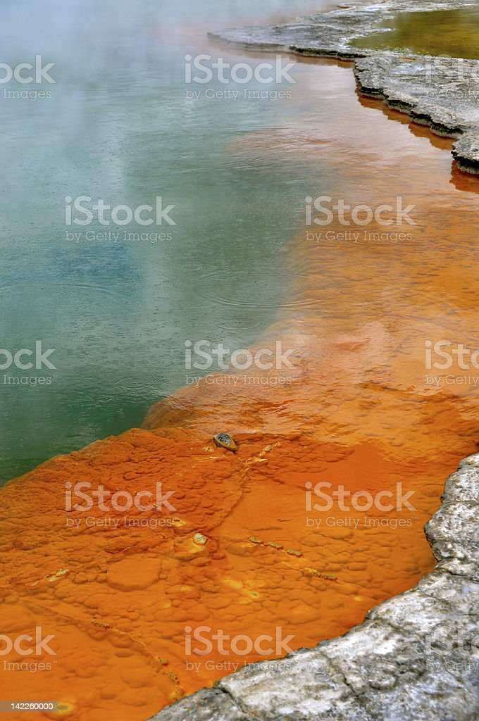 Champagne Pool - Thermal Wonderland, NZ stock photo