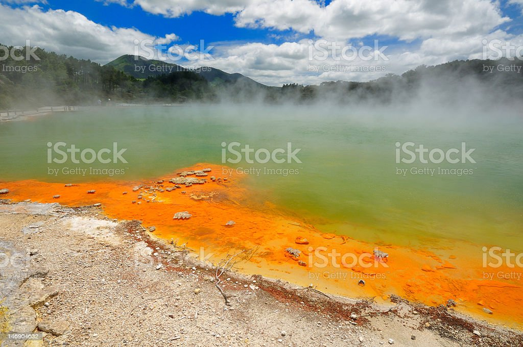 Champagne Pool, Waiotapu Thermal Wonderland, New Zealand royalty-free stock photo