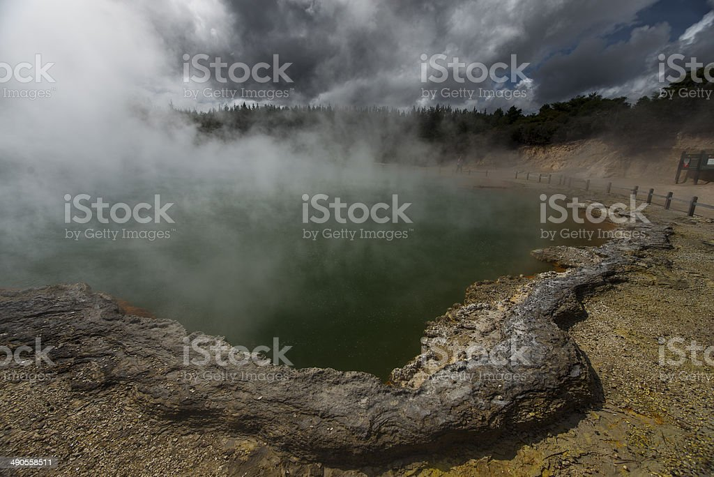 Champagne pool, Wai-O-Tapu Thermal Wonderland stock photo