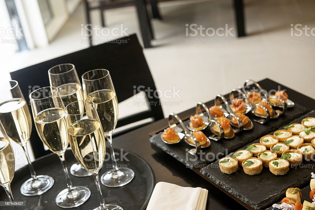 Champagne reception royalty-free stock photo