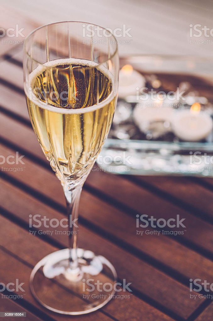 Champagne Romance stock photo