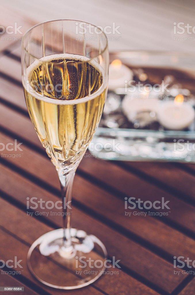 Champagne Romance stock photo