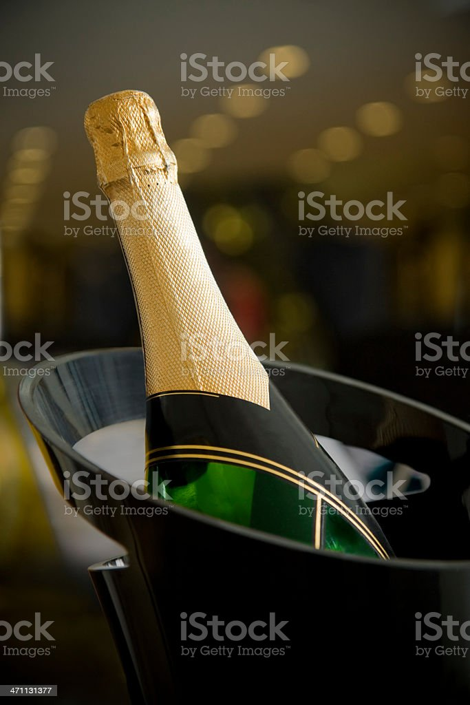 Champagne served cold royalty-free stock photo