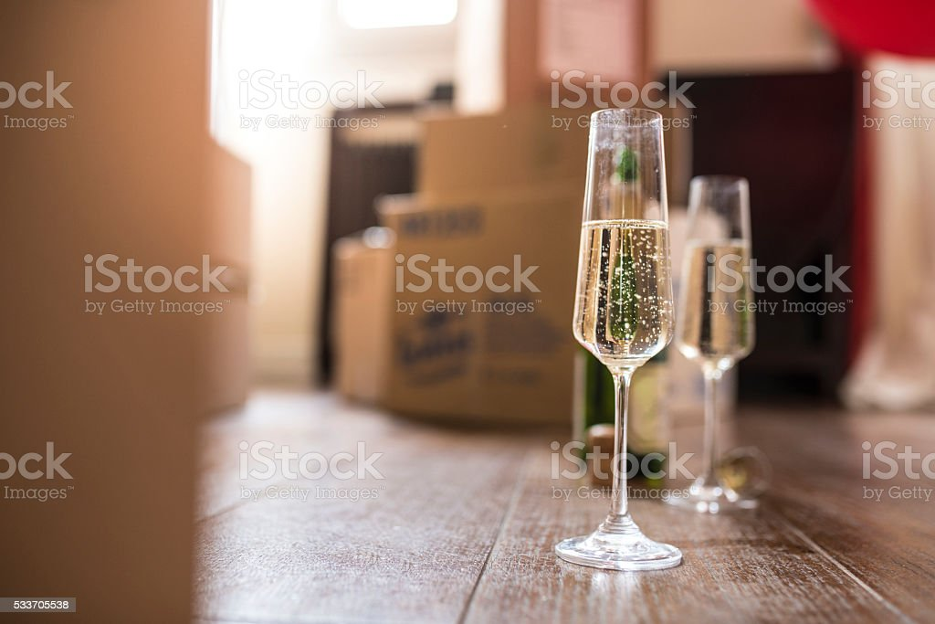 Champagne showers stock photo