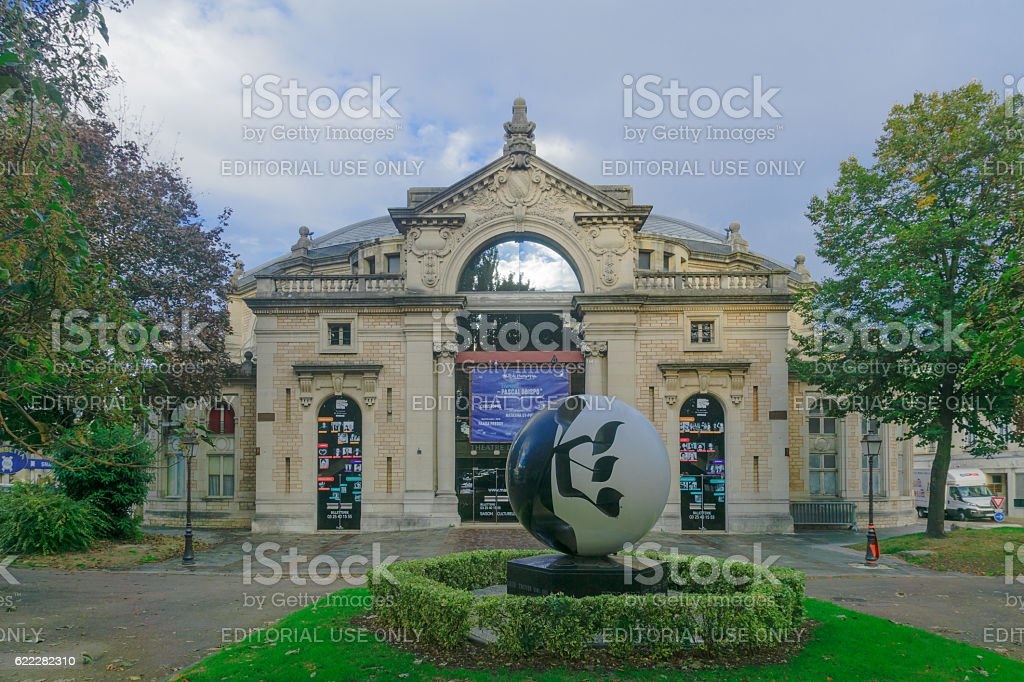 Champagne Theater and Rachi Memorial, in Troyes stock photo