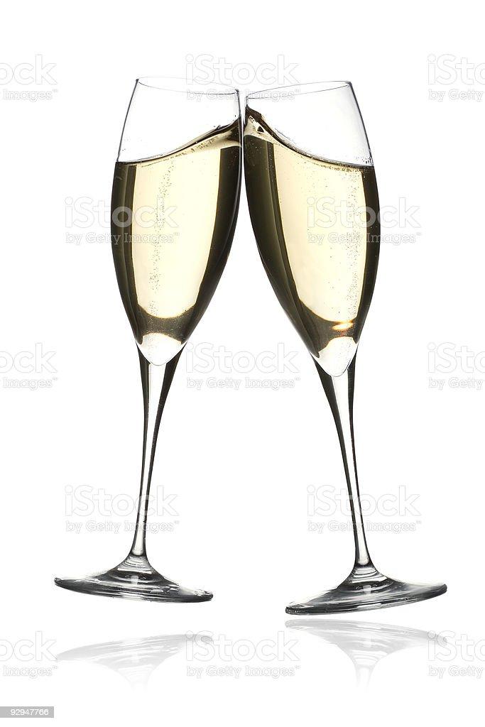 Champagne toast celebration stock photo