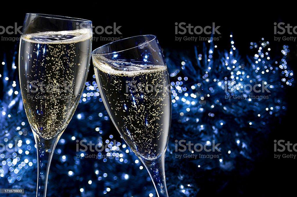 Champagne Toasting stock photo