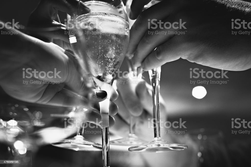 Champagne Toasting royalty-free stock photo