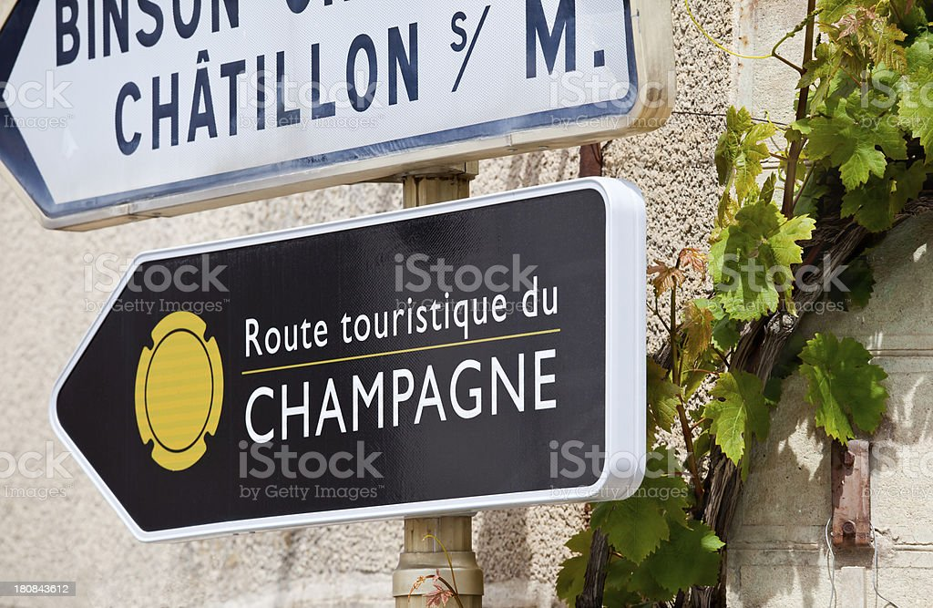 Champagne Tourist Route royalty-free stock photo