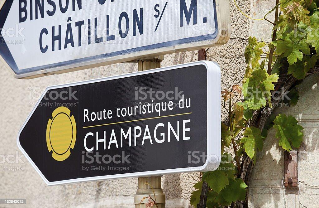 Champagne Tourist Route stock photo