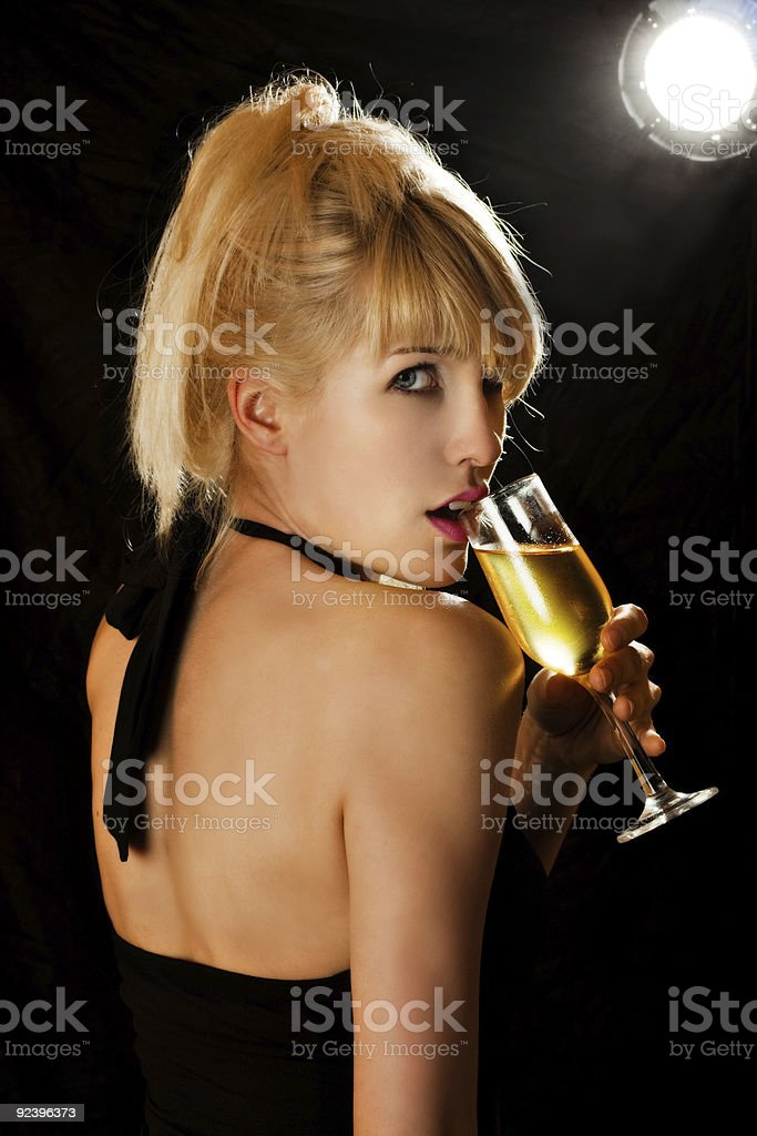 champagne woman royalty-free stock photo