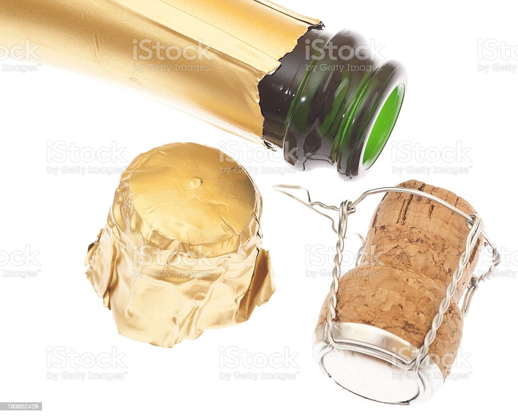 champagner studio shot with copyspace stock photo