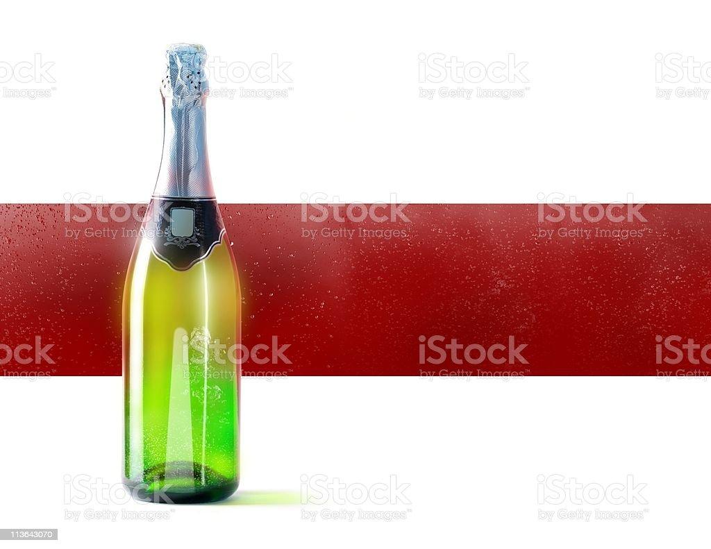 Champaign bottle stock photo