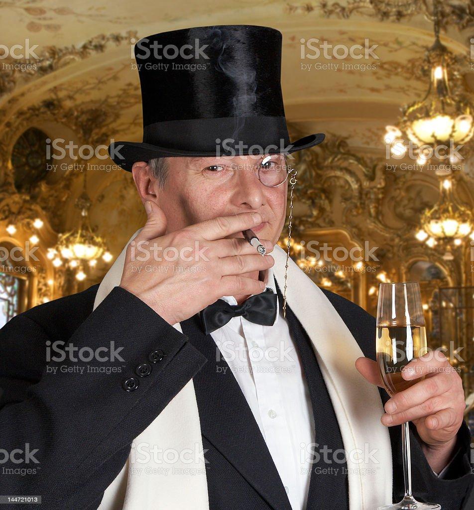 Champaign dandy stock photo