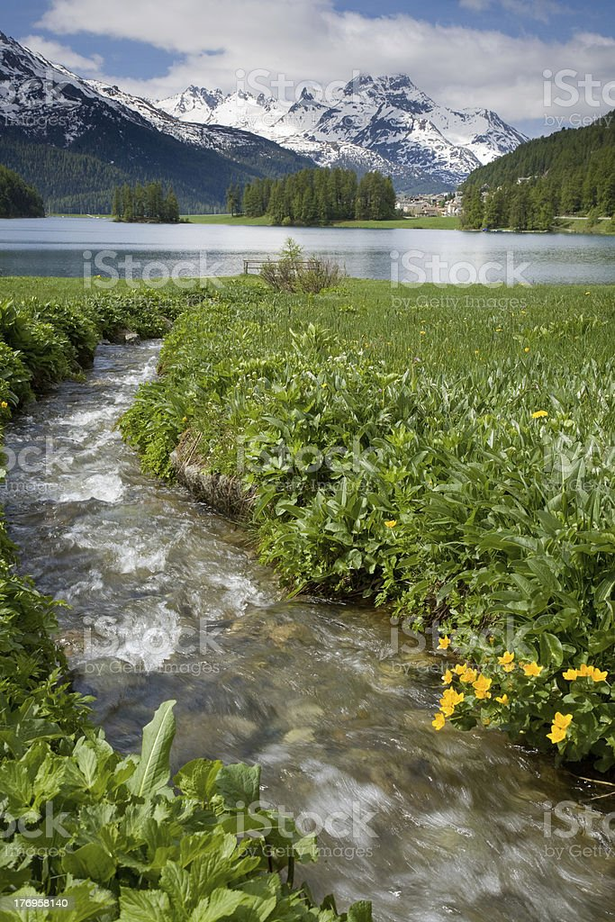 Champferer lake stock photo