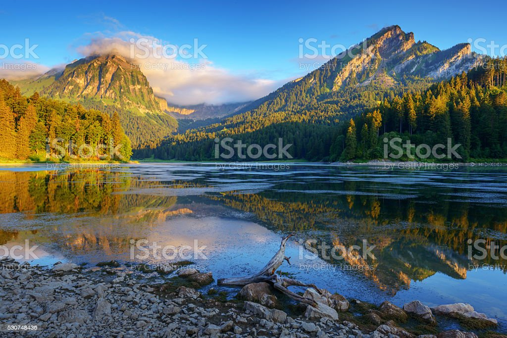 Champferersee stock photo