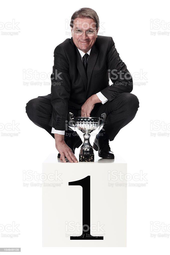 champion businessman royalty-free stock photo