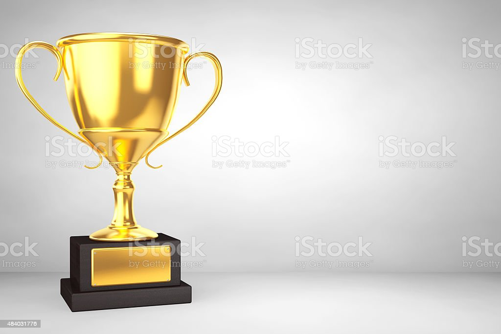 Champion gold cup trophy stock photo