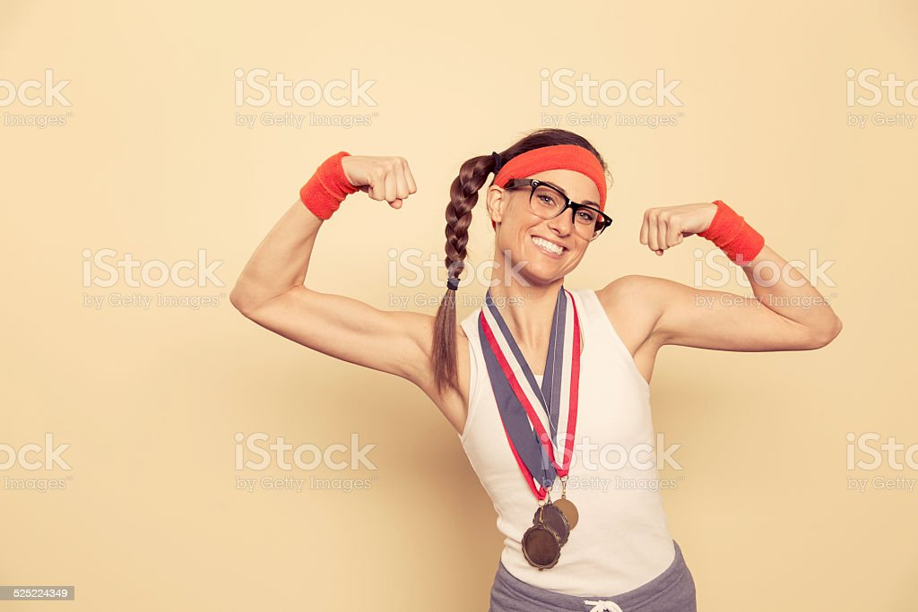 Champion of the Nerds stock photo