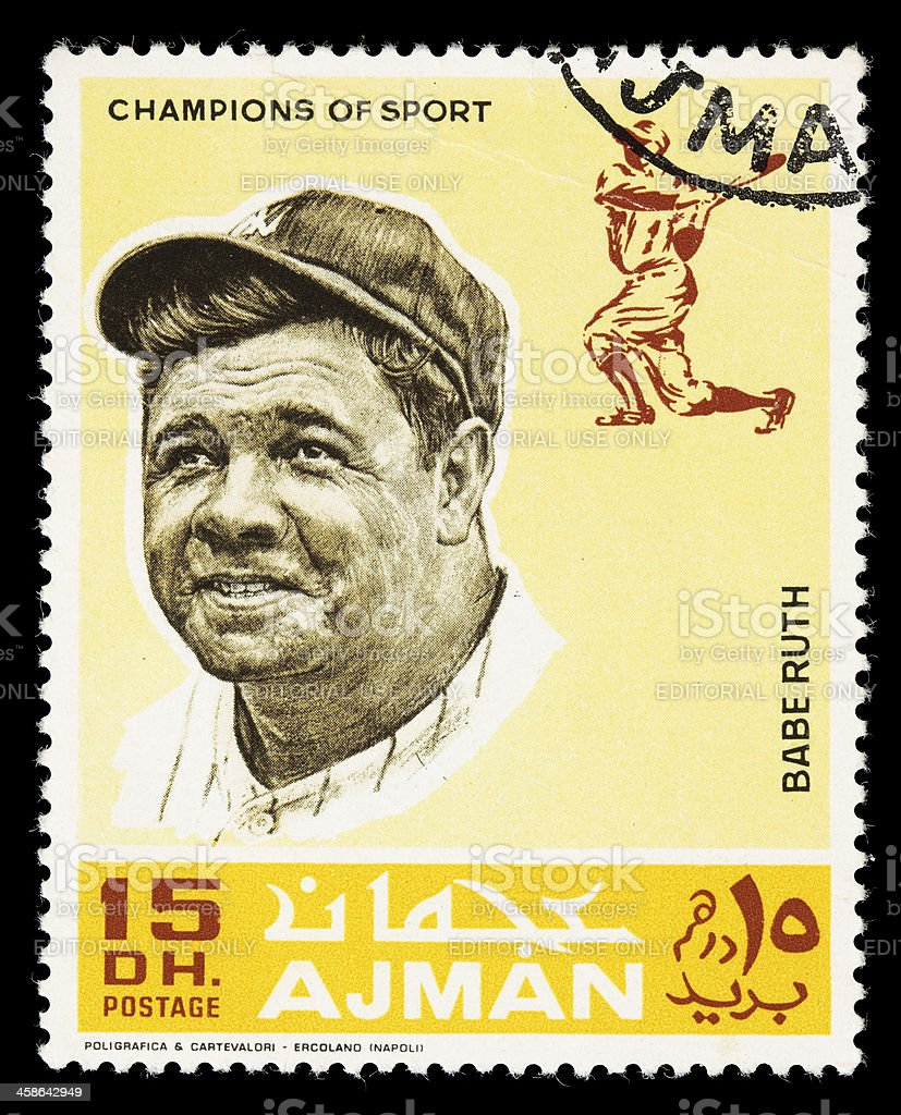 Champions of Sport Babe Ruth postage stamp stock photo