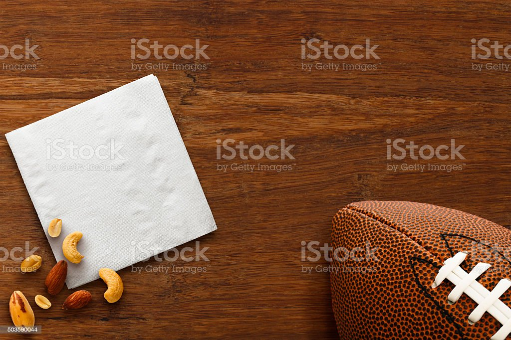 Superbowl Football Snacks stock photo