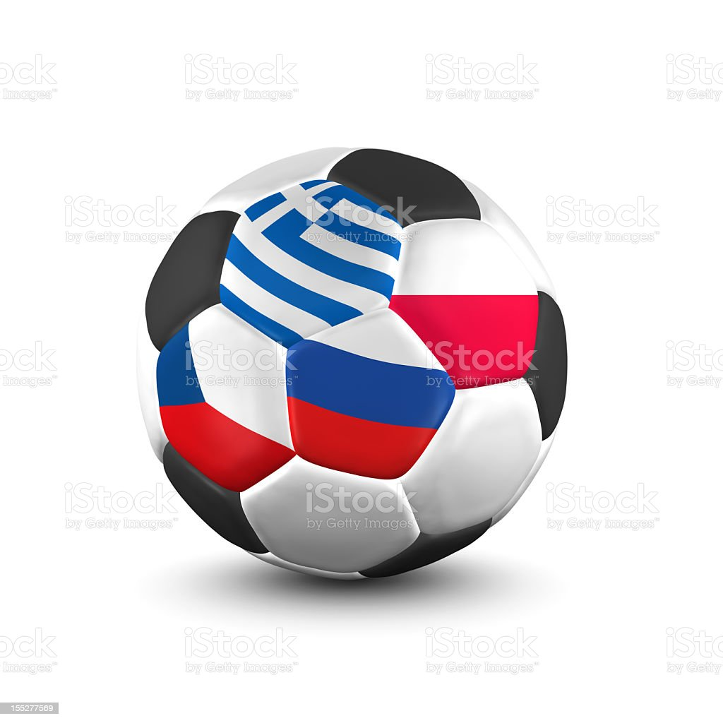championship soccer ball group a royalty-free stock photo