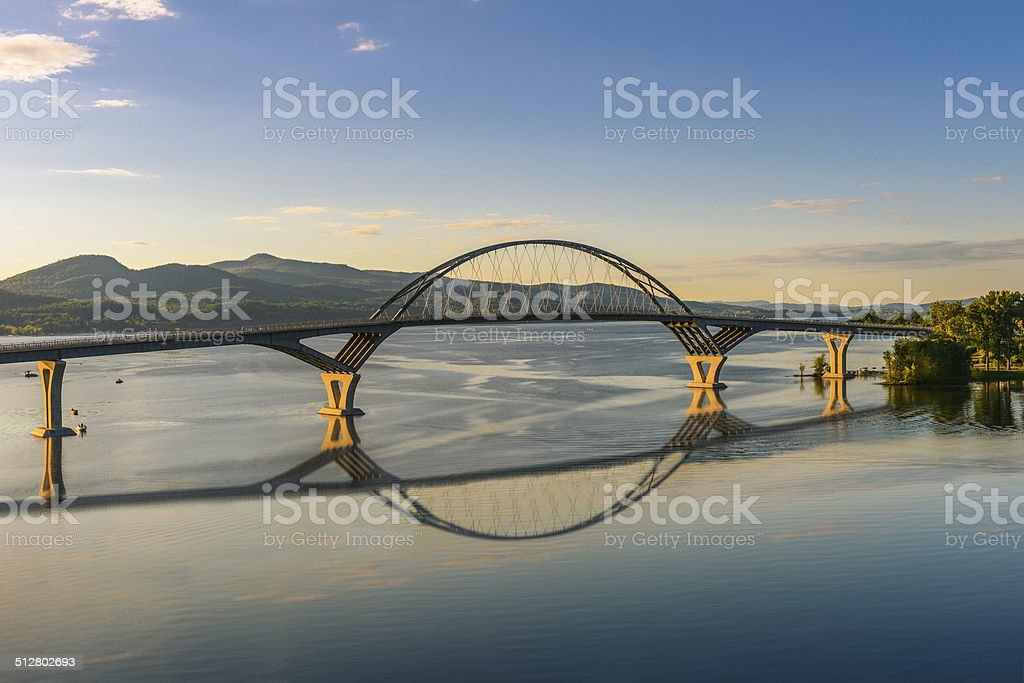 Champlain Bridge stock photo