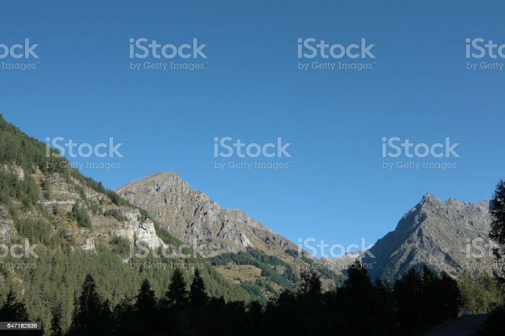 Champoléon valley in Alps, France stock photo