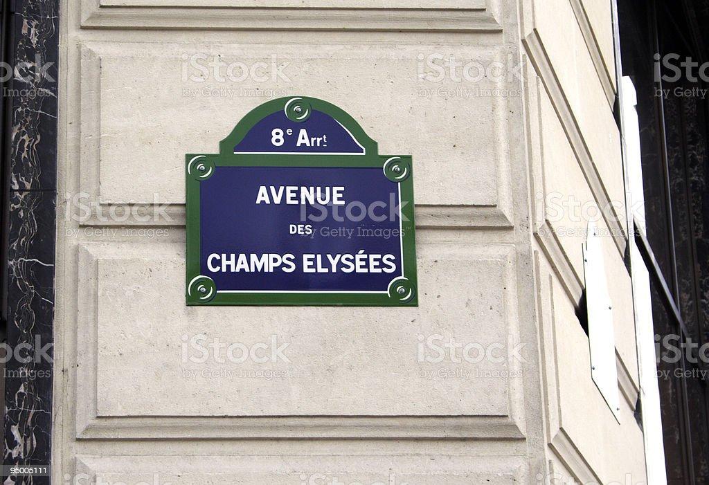 Champs Elysées royalty-free stock photo