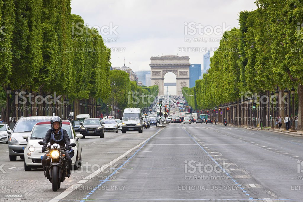 Champs Elysee, Paris royalty-free stock photo
