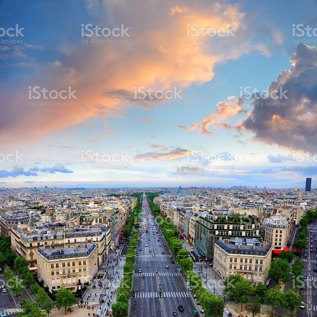 Champs Elysees, Paris stock photo
