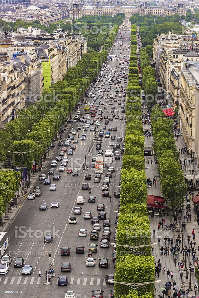 Champs Elysees stock photo