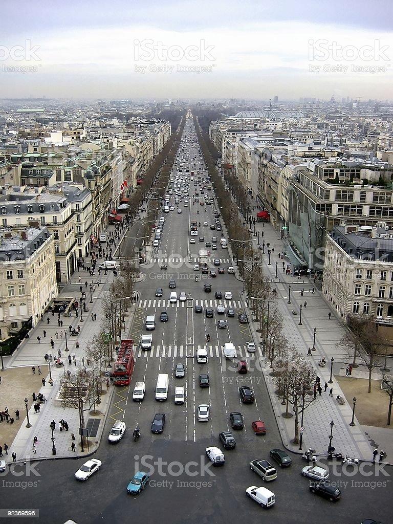 Champs Elysées Paris royalty-free stock photo