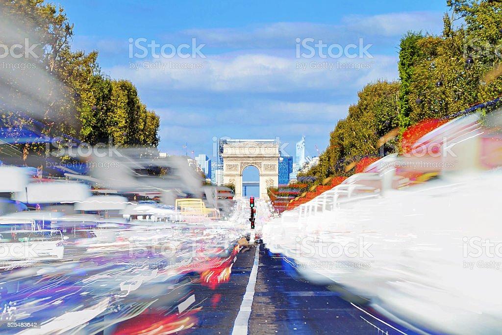 Champs traffic stock photo